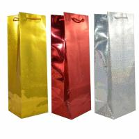 China Champagne Gift Packing Boxes Holographic Paper Bag Birthday Christmas Presents on sale