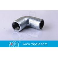 Quality BS4568 Conduit Fittings 25mm Malleable Iron Solid Elbow , 90 Degree Pipe Bent for sale