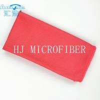 Red Microfiber Glass Cleaning Cloth Towel 40*40 Lint Free For Window Washing Cloth