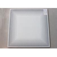 China Decorative Commercial Ceiling Tiles , Perforated Acoustical Panel for Office Building on sale