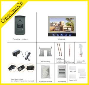 Home Surveillance Intercom Video Door Phone , Anti - Jamming Color Video Door Phone Manufactures