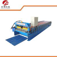 Corrugated Sheet Roll Forming Machine , 350 H Steel Glazed Tile Roll Forming Machine Manufactures