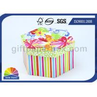 Bespoke Printing Hard Paper Gift Box with Lid , Luxury Hexagon Custom Packaging Boxes Manufactures