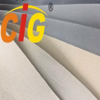 China Custom Light Gray Automotive Headliner Fabric With 3-4mm Foam For Car Ceiling on sale