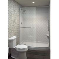 Light Texture Cultured Marble Shower Walls With Back Panels Scratch Resistent Manufactures