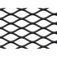 China Security Black Expanded Metal Mesh , Smooth Faced Aluminum Expanded Mesh Sheet for sale