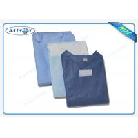 100% PP , SMS Non Woven Medical Fabric Sterile Disposable Surgical Gown Sauna Dress Manufactures