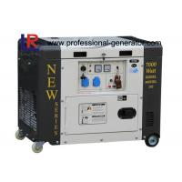 Single Phase 50HZ 6.5kVA Portable Diesel Power Generator With Electric Start Manufactures