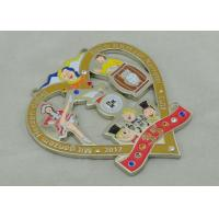 3.5mm Swaroviski Stone Cartoon Carnival Medal / Custom Zinc Alloy Medal Manufactures