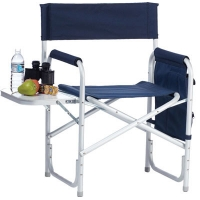 China Folding Sports Chair 250 Lbs With Side Table And Pouches on sale