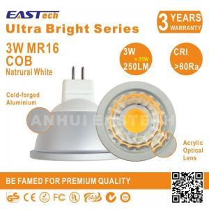25W Halogen Replacment Epistar COB CE RoHS MR16 GU10 3W 4500K Dimmable Spot Light Manufactures