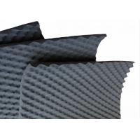 50mm Wavy Acoustic Foam Panels Black High Density Closed Cell Foam For Theatre Manufactures
