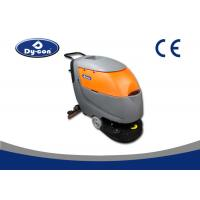 Hand Held Walk Behind Floor Cleaners Scrubber With Collision Wheels Gray Color Manufactures