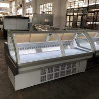 1152W 380V 50HZ Cheese Meat Display Cooler  With Front Flip Glass Cover Manufactures