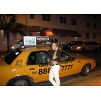 China Taxi Top Advertising LED Billboard / Outdoor Led Car Advertising Signs Fireproof on sale