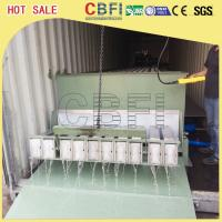 Stainless Steel 316 Block Ice Maker / Dry Ice Block Machine With Crane System Manufactures