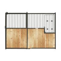Wood Material Horse Stall Fronts Customized Front Panel Hardwood Horse Stable Manufactures