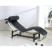 Modern Leisure Corbusier Black Premium Leather Chaise Lounge Chairs Manufactures