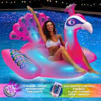 Peacock LED Light up Pool Float Giant,Remote Control,Ages 15+ Inflatable Ride on Manufactures