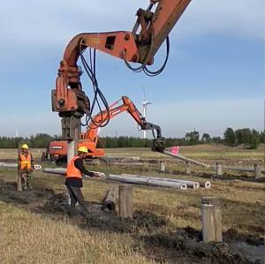China BeiYi red color Vibratory Sheet Pile Driver excavator vibro hammer dealer on sale