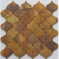 Modern Small Bronze Metallic Mosaic Tiles For Interior Projects 8mm Thick Manufactures