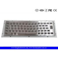 China 64 Full Travel Keys IP65 Rated Panel Mount Keyboard For Industrial Kiosk Applications wholesale