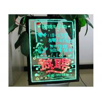 China Full Color LED Writing Boards Flashing Transparent Illuminated Billboard Design Signs on sale