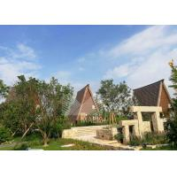 China Light Steel Structure Prefabricated Wooden Houses , Prefabricated Log Homes on sale