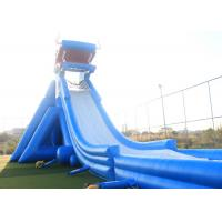 Blue Giant Inflatable Water Slide For Adult 3 Layers Pvc Tarpaulin Material Manufactures