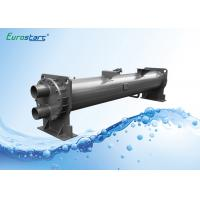 High EER Water Cooled Chiller Heat Exchanger R134A Refrigerant Flooed Type Manufactures