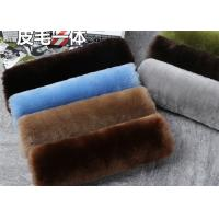 Dyed 24 Colors 100% Sheepskin Seat Belt Cover Warm Keeping With Universal Size Manufactures