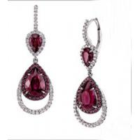 Silver Plated Brass Base Glass Stylish Earrings Drop Clip-on Earring Manufactures