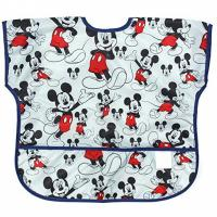 China Disney Mickey Mouse Junior Bibs , Short Sleeve Bib / Smock For 1-3 Years for sale