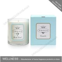 China Personalised Sticker Home Scented Candles , Natural Soy Candles For Living Room on sale