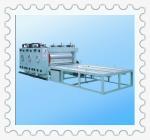 JCBRF-2000 Ф800mm Big rollers semi auto water ink chain feeding printer machine Manufactures