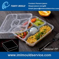 multi-compartment thin wall disposable food container mould, lunch box 5 compartment mold Manufactures