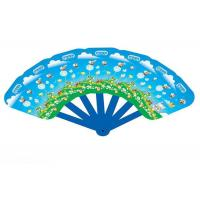 Buy cheap Customized PVC Plastic Products , Folding Hand Fans Full Color Printing from wholesalers