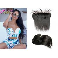 Natural Can Be Dyed Straight Virgin Malaysian Hair Bundles With Lace Frontal Manufactures