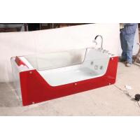 Red Rectangle ABS Acrylic Air Bubble Bathtubs For Bathroom 87 x 182 X 72cm Manufactures