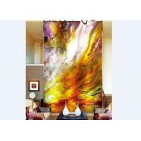 Custom Abtract Art Decorative Glass Panels For Walls Or Glass Doors , 3600×2400mm Manufactures