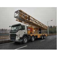 China Yellow VOLVO Chassis Under Bridge Inspection  platform Truck   8x4 Drive Type on sale