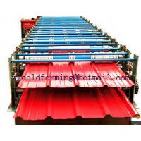 Double Layers Wall Panel Roll Forming Machine Automatic High Speed have Panasonic PLC control Manufactures