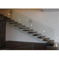 China Prima Building Floating Steps Staircase With Prefab Steel And Wood Construction Materials on sale