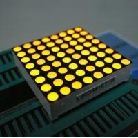 Yellow 3mm 8x8 Dot Matrix Led Display With White Dots Black Surface Manufactures