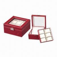 PU Leather Jewelry Box with Elegent Design, OEM/ODM Orders are Welcome Manufactures