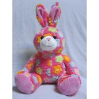 Rose / Blue Stuffed Easter Bunnies Soft Push Toys Custom Made Manufactures