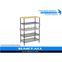 Heavy Duty Steel 5 Tier Wire Shelving With Powder Coated Colorful Surface Manufactures