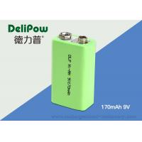 Electronic Products 6f22 9v Battery , 170mAh  NIMH Rechargeable Battery For Instrument Manufactures