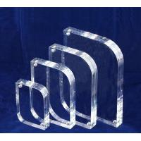 China 10mm / 15mm Clear Acrylic Photo Frames Desktop Stand OEM on sale