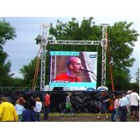 China P8mm Trailer Mounted Mobile LED Billboard Outdoor Digital LED Screen , Rear Maintaining on sale